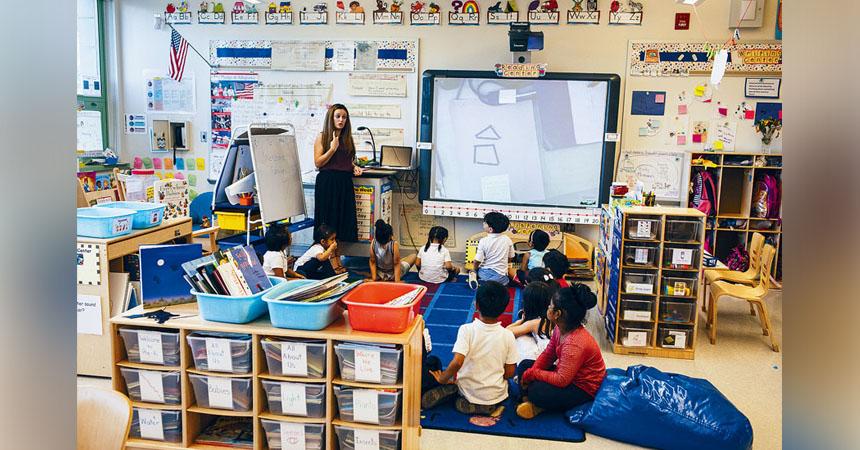 市教育局將於新學年採納「enVisionmath 2.0」作為數學課程的核心內容。Edu Bayer/紐約時報