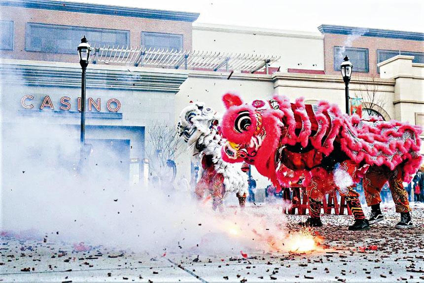 米高梅春田賭場舉行舞獅賀歲。 主辦方提供