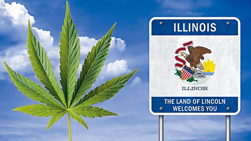 伊州州長大力推動娛樂性大麻合法化。網絡照片