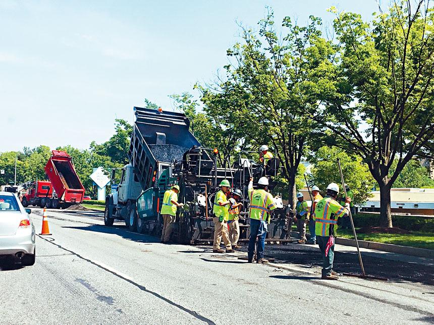 馬里蘭州惠頓市一處道路維修區。