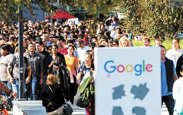 高學歷移民漸成加州經濟支柱。圖為谷歌公司職員。美聯社資料圖片