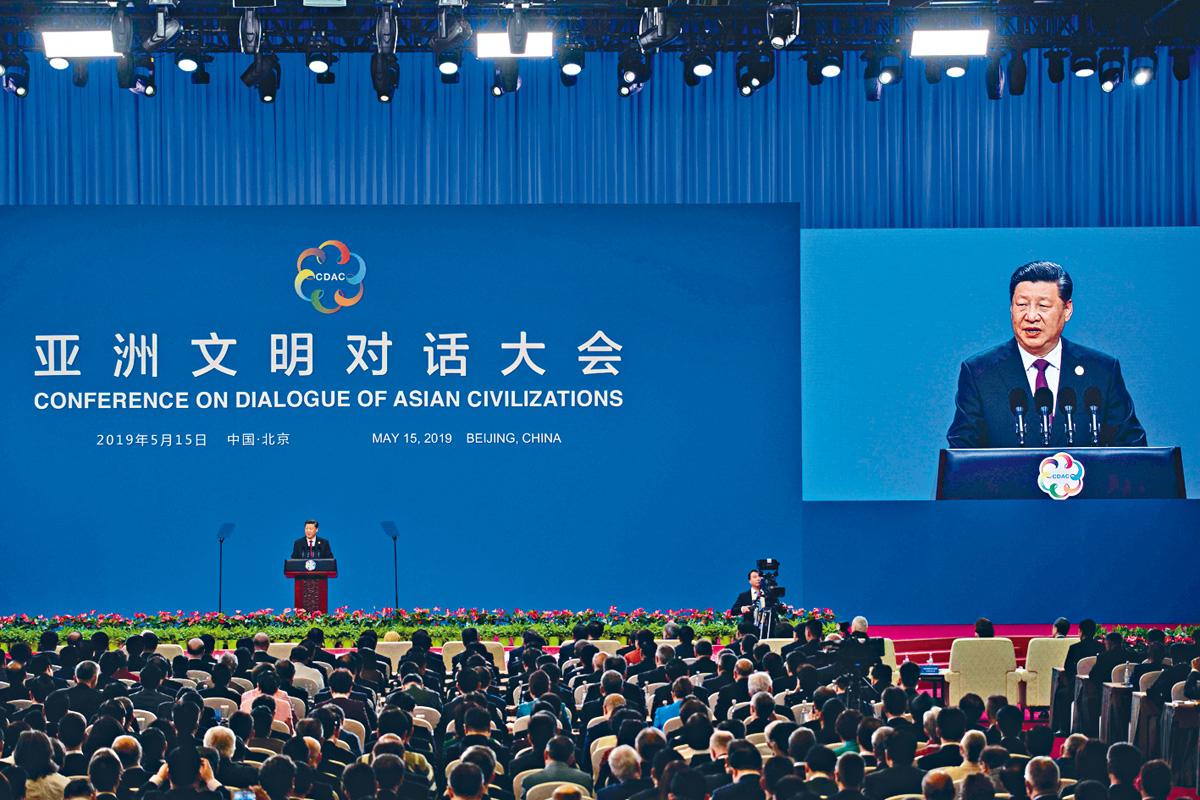 習近平15日出席亞洲文明對話大會開幕式並發表演講。 法新社