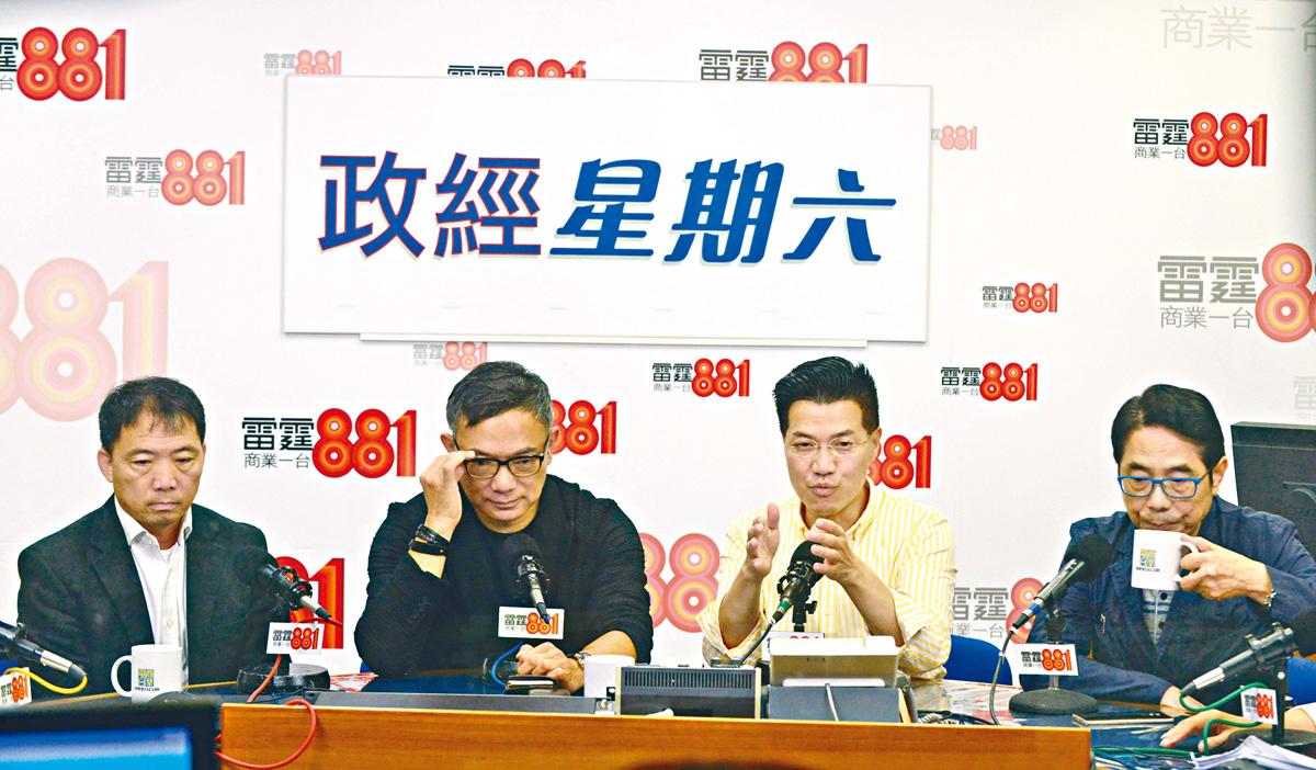 謝偉俊(左二)表示,政府如將草案直接提交大會審議,將開壞先例,唯事到如今「長痛不如短痛」。黃頌偉攝