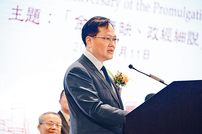 中聯辦副主任陳冬支持特區政府修例,因有逼切需要堵塞漏洞。陳嘉樂攝
