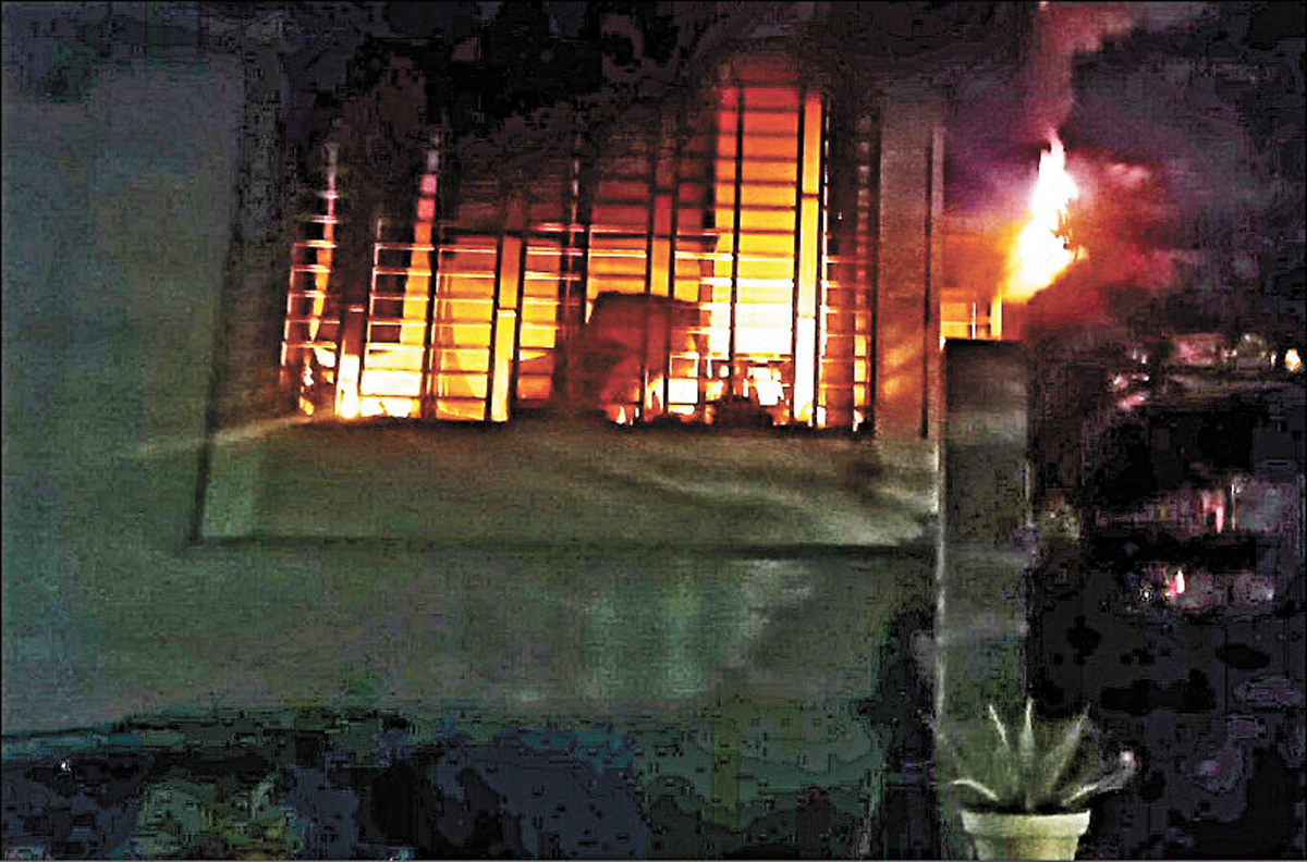 台南市永康區劉家透天厝火警,警方查出是屋主女兒縱火所為。網上圖片