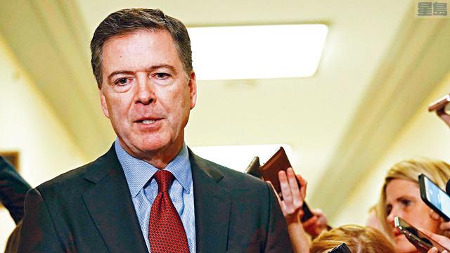 司法部長巴爾披露通俄門起源的調查,將聚焦前FBI局長科米(圖)的反常行為。  法新社資料圖片