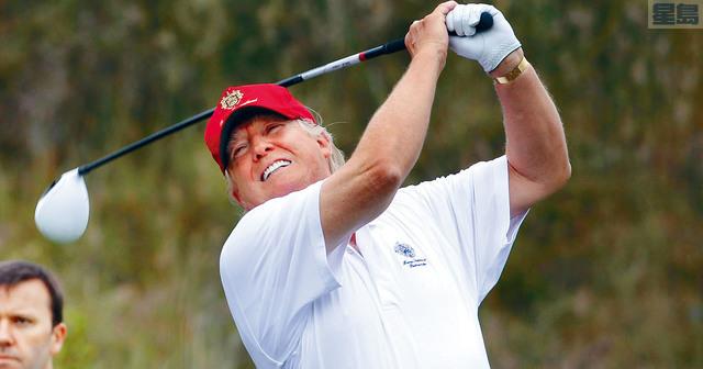 ■總統特朗普一向自詡高爾夫球水平不俗。 UDS Today圖片