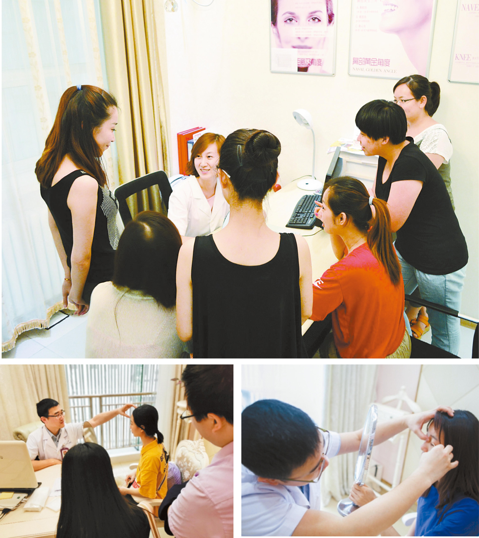 高考結束後,很多整形機構迎來學生,還有一些是父母陪著一起來。網上圖片