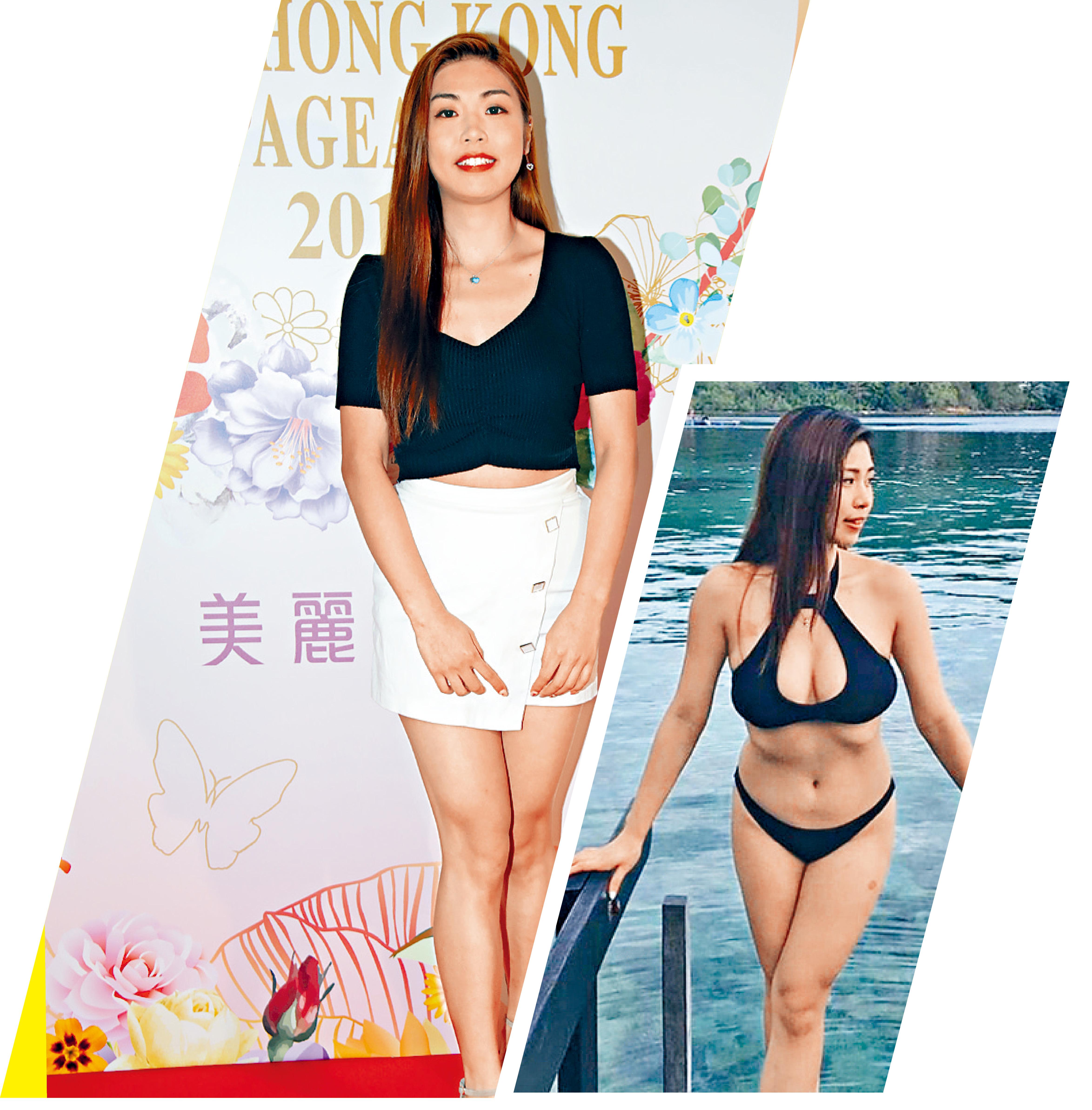 ■Vivian Yuen身材驕人,社交網不乏泳照(右圖)。