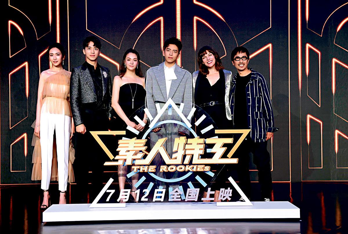 ■美娜祖華域茲表示因為《捉妖記》而迷上導演袁錦麟(右1)。