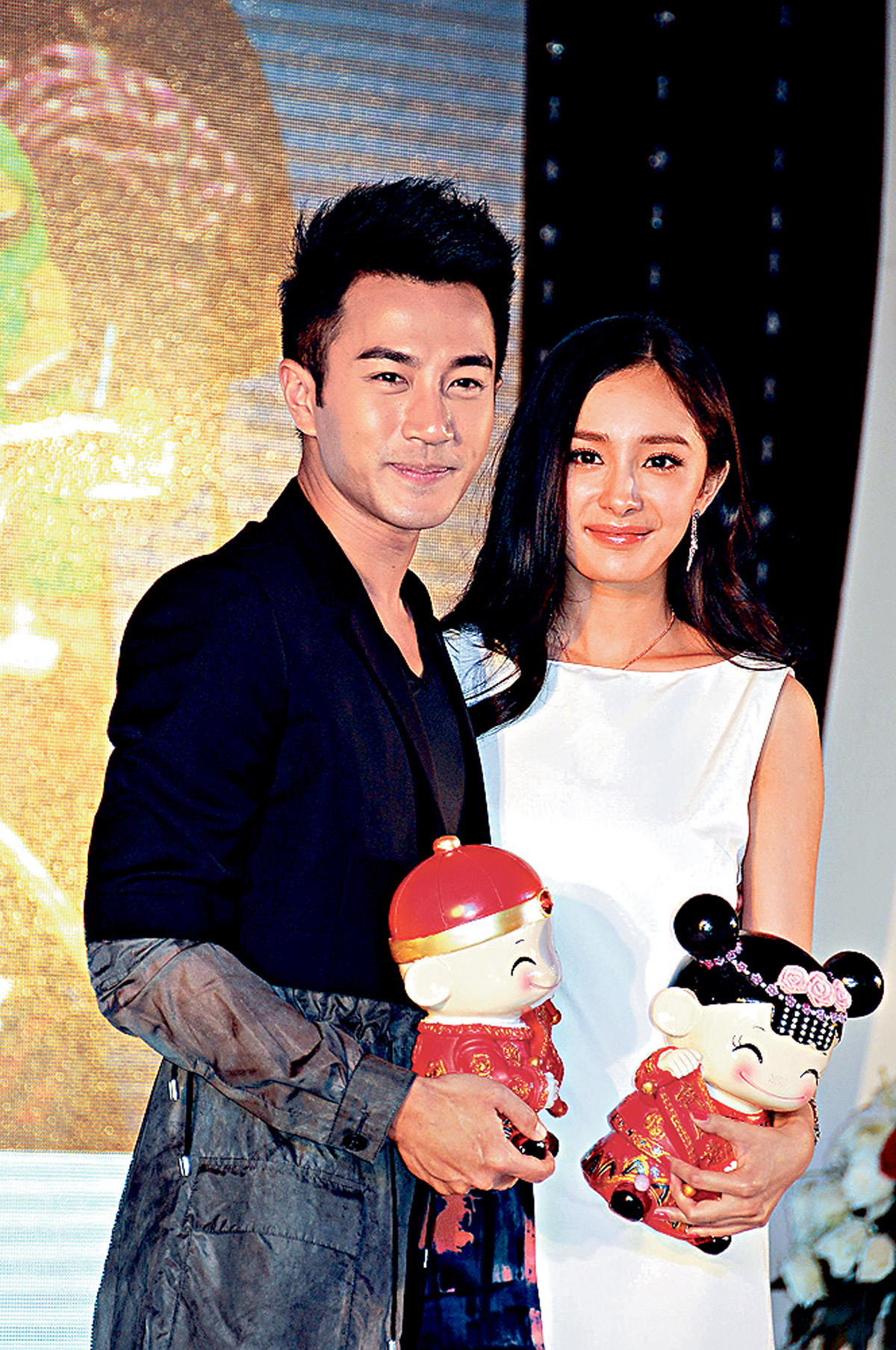 ■劉愷威及楊冪今個月初返港為女兒慶祝生日。(資料圖片)