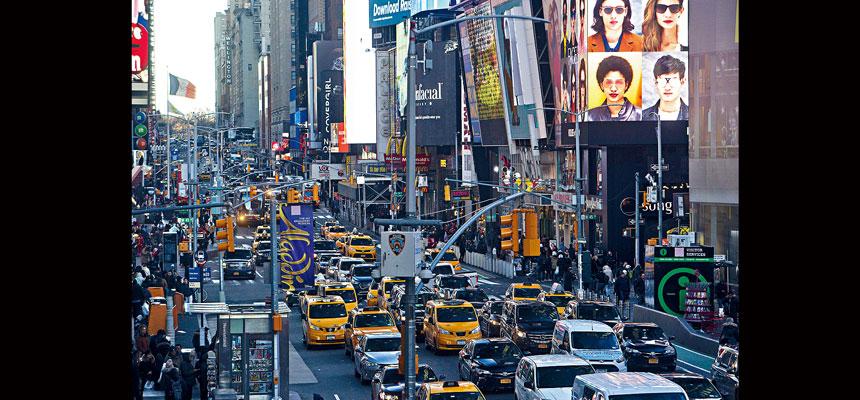 「擁擠費」計劃最快將於2021年全面生效。Todd Heisler/紐約時報