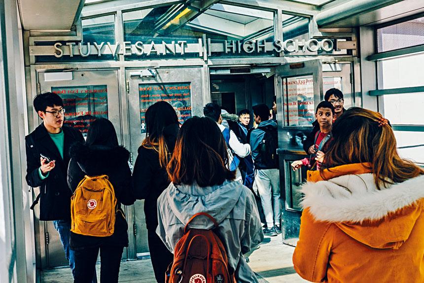 今年史蒂文生高中只有7名非裔學生獲取錄。Christopher Lee/紐約時報