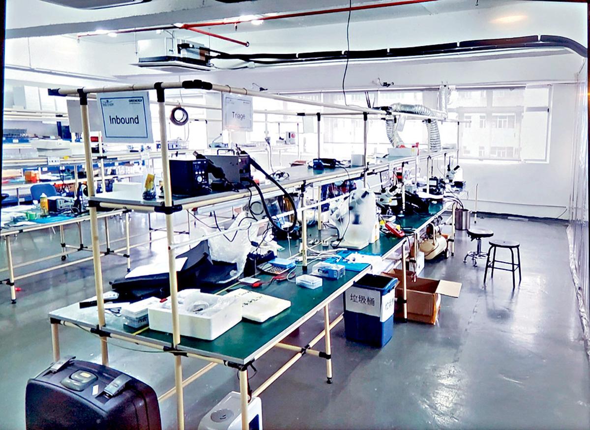 ■手機維修工場及倉庫藏有大批冒牌配件。海關提供圖片