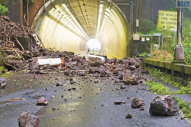 早前受山泥傾瀉影響而封閉的Pali Highway終可重開。美聯社