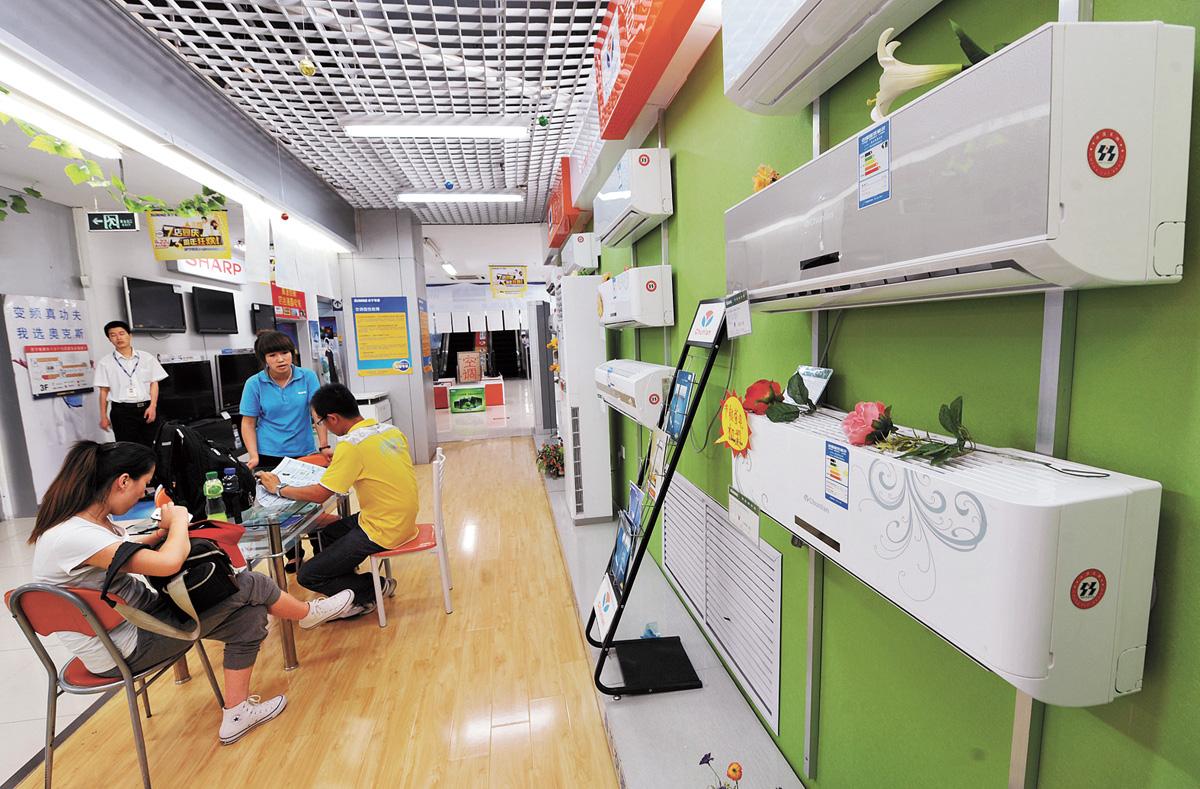 夏天臨近,民眾紛紛需要選購空調。新華社資料圖片