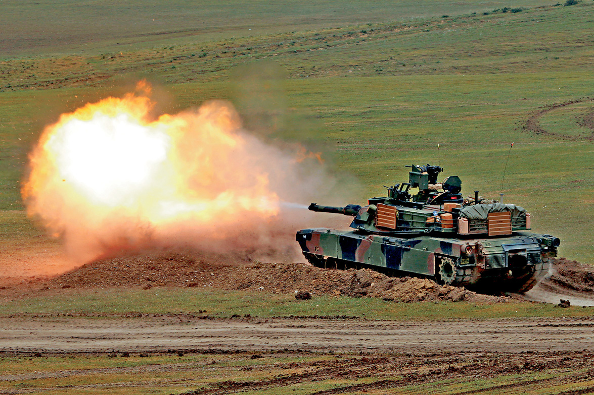 M1A2是美軍現役先進主戰坦克之一。 資料圖片