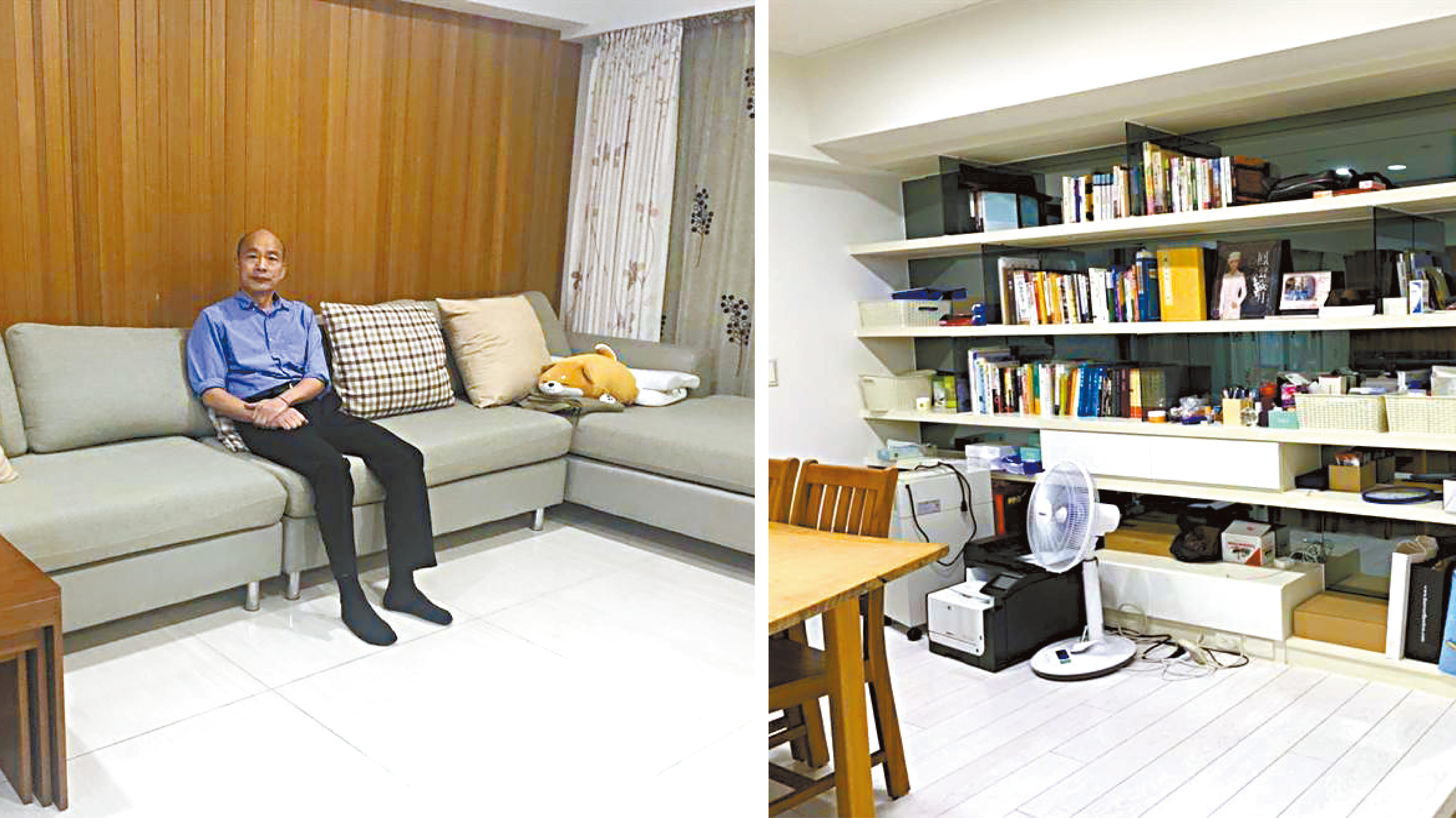 高雄市長韓國瑜在左營租屋,圖為室內並無太複雜的裝潢。網上圖片