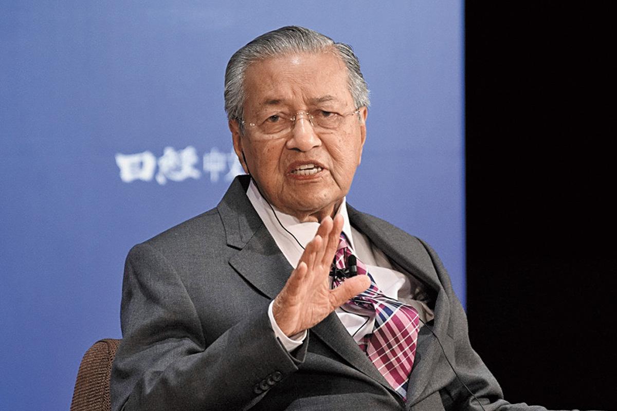 馬哈迪承認扣押了中石油子公司的巨額資金。網上圖片