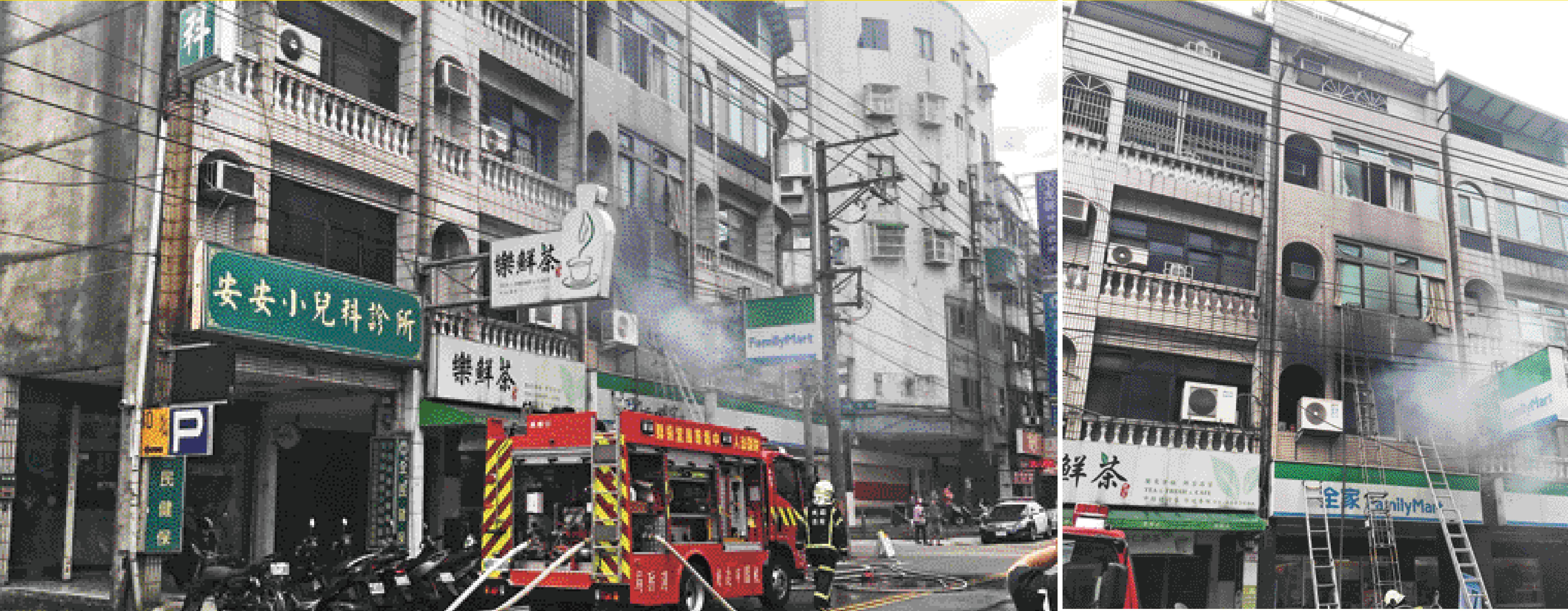 圖為桃園市中壢區一處民宅在9日發生火警,消防人員緊急前往灌救。中央社/網上圖片