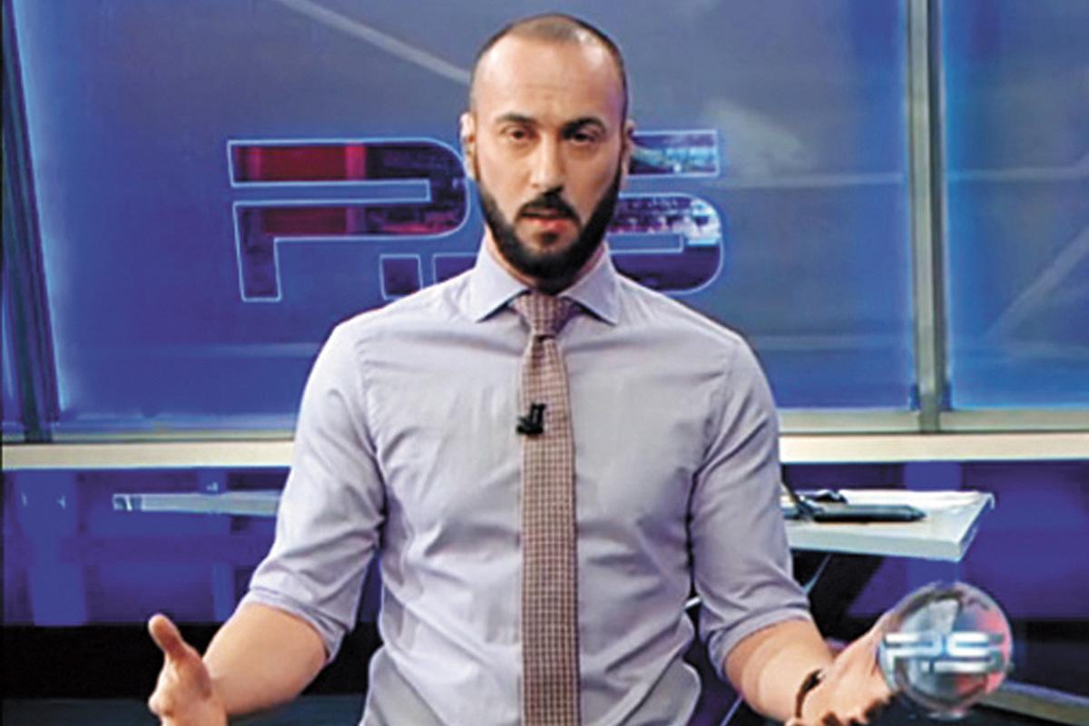 圖為漫罵普京的格魯吉亞主播。網上圖片