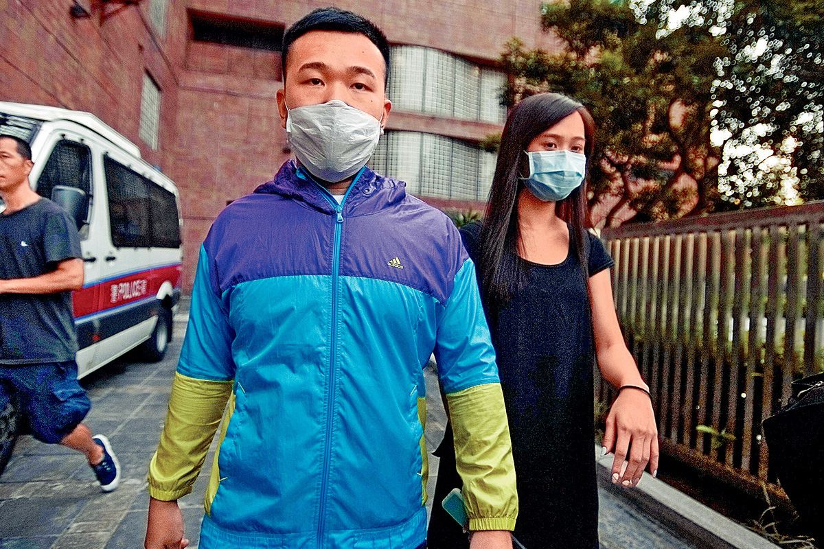 涉咬斷警長手指的港大畢業男生杜啓華獲准保釋。陳浩元攝