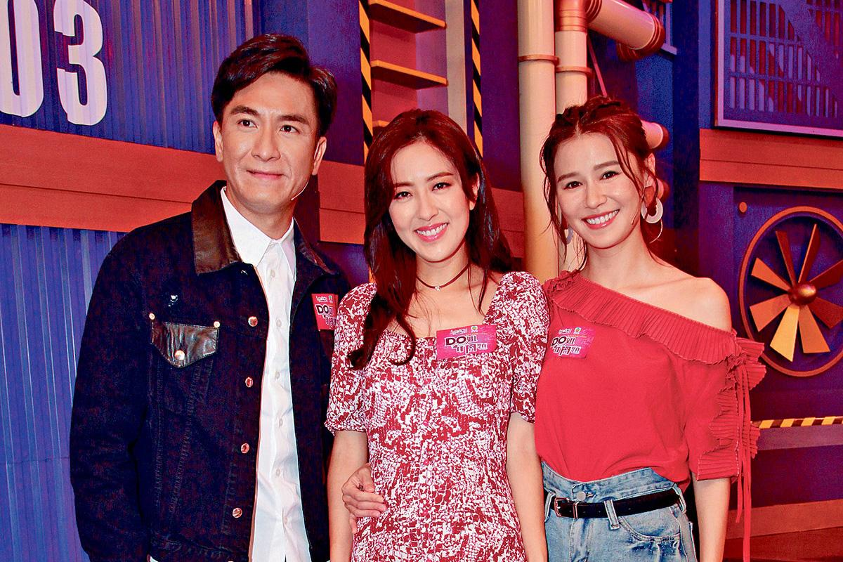 ■(左起)馬國明、唐詩詠與黃翠如,難得一起上節目。