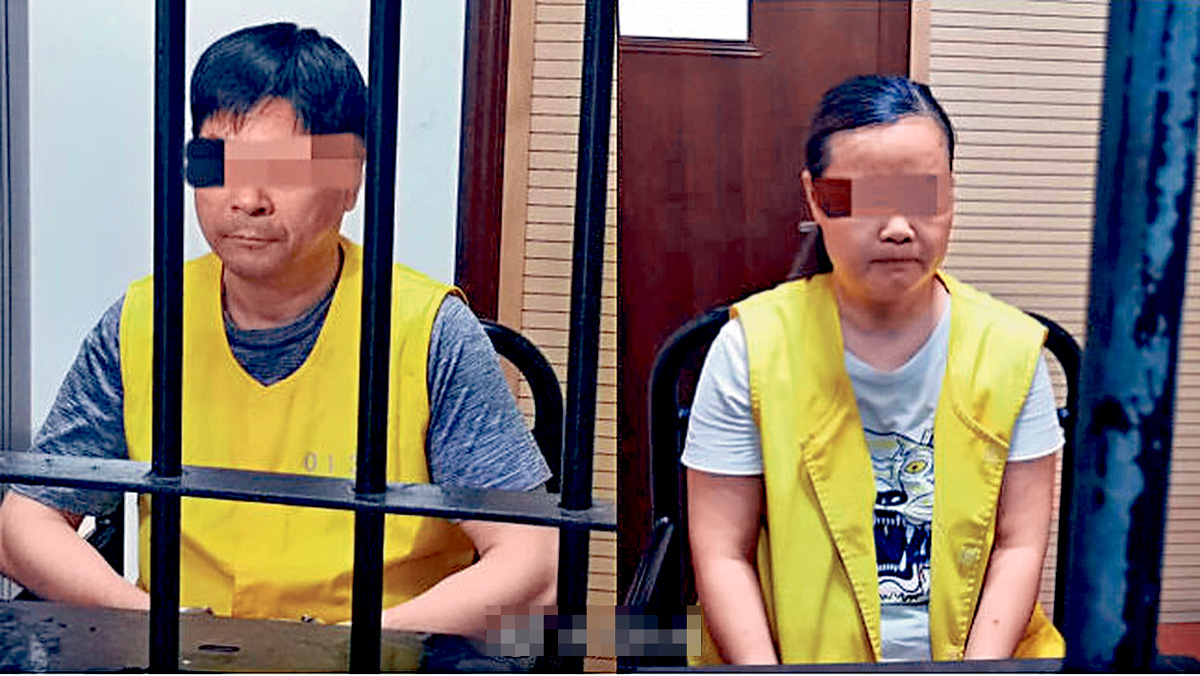 王振華(左)、周某(右)被逮捕。網上圖片