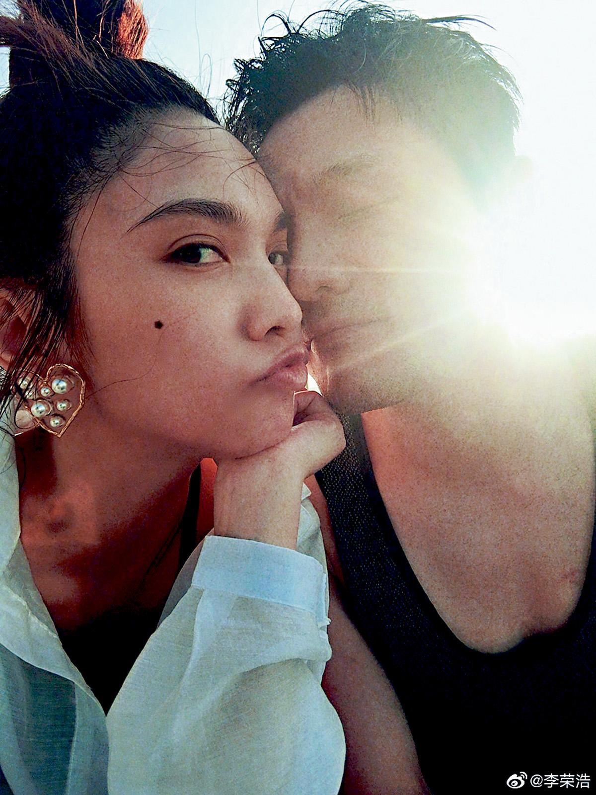 ■李榮浩、楊丞琳修得正果,分享甜蜜貼面照,公布喜訊。