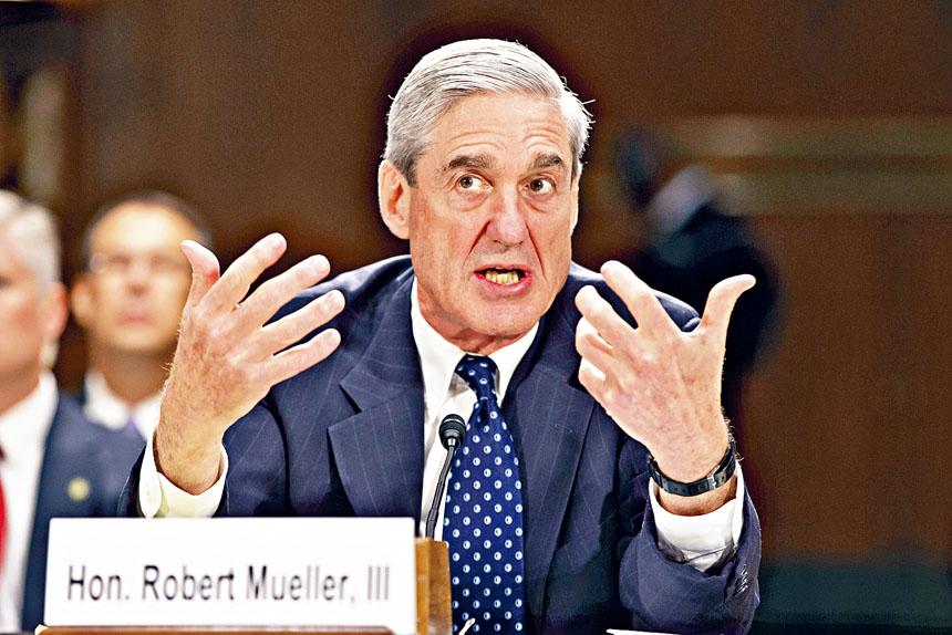 穆勒將於24日到眾院司法及情報兩個委員會,就他有關通俄門及總統特朗普可能妨礙司法公正的調查報告作證。美聯社