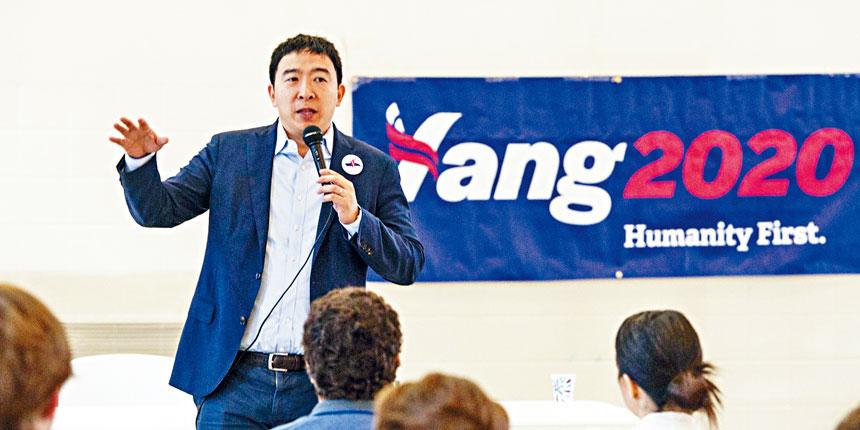 民主黨總統候選人楊安澤在上季籌款280萬美元。其中81%來自捐款不到200美元的小額捐款人。美聯社