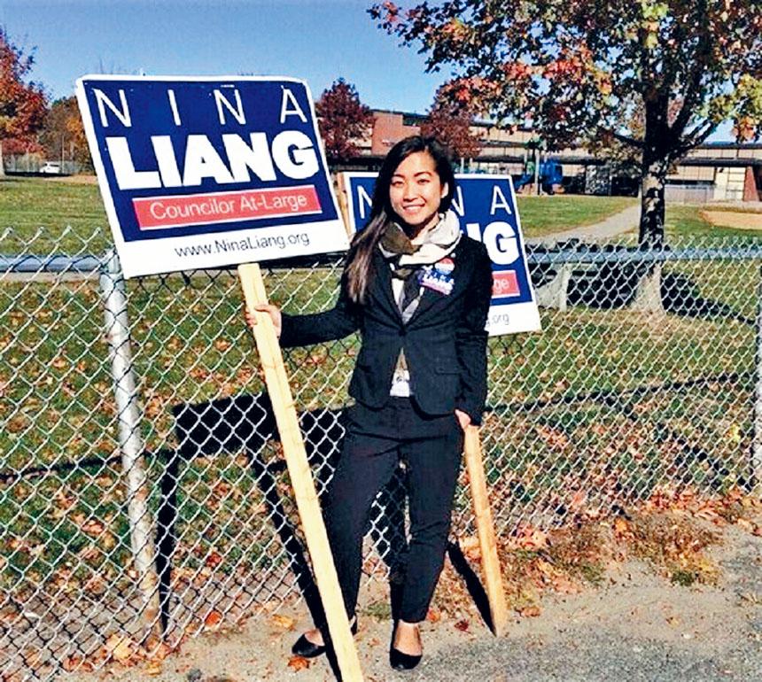 梁秀婷競選昆士市議員得到衆多華人選民支持。