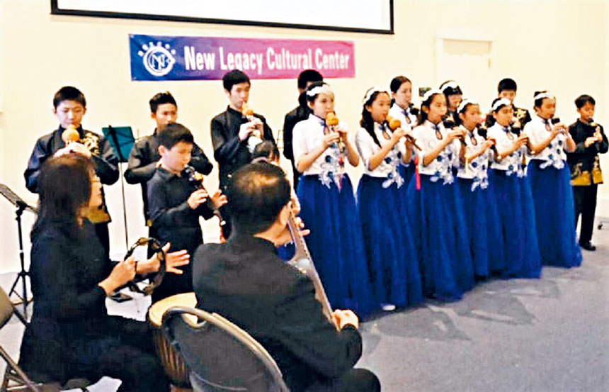 開放日活動中的民樂表演由著名民樂家張正山夫婦指導。主辦方提供