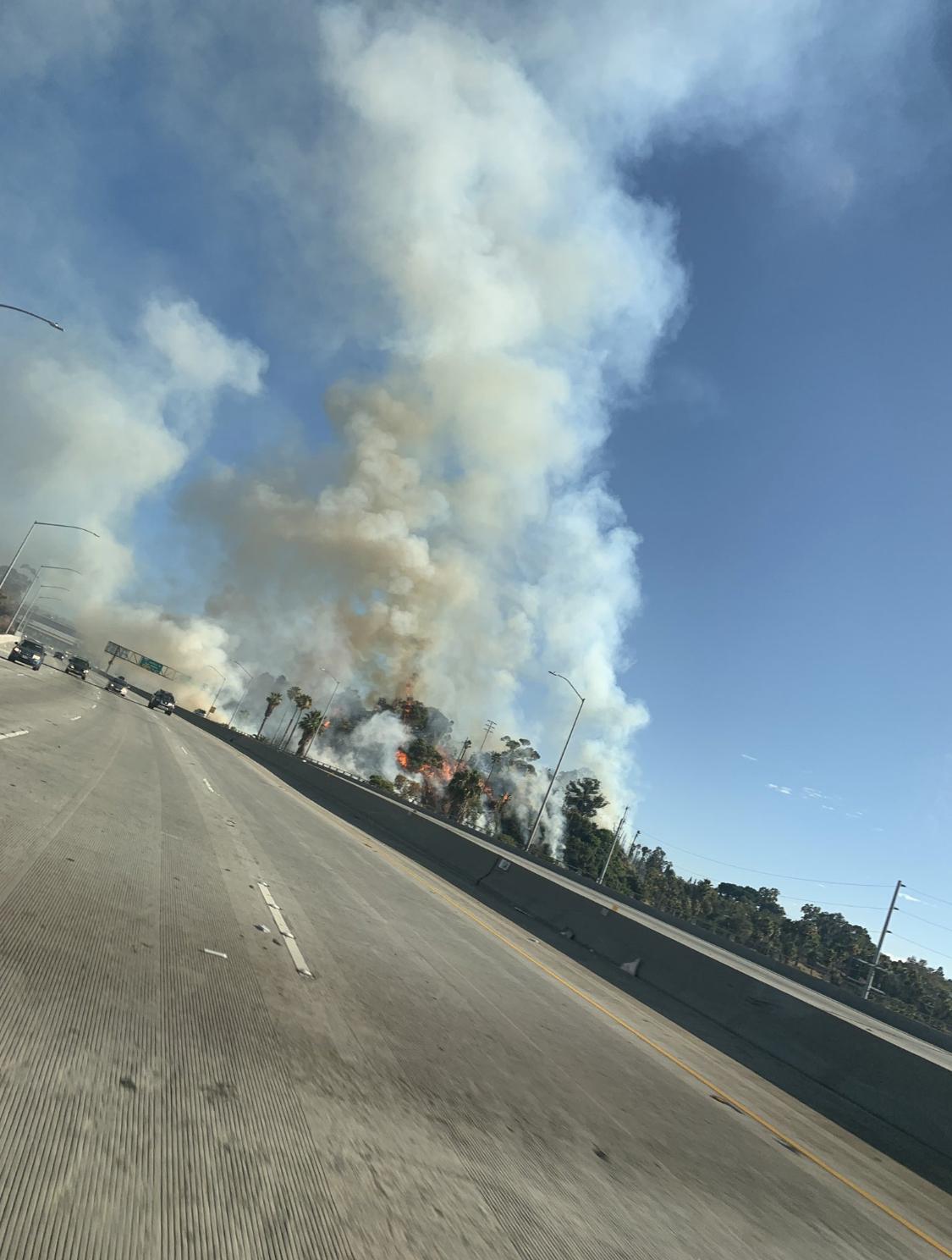 聖佩卓垃圾焚燒釀大火,逮捕一名縱火嫌犯。推特