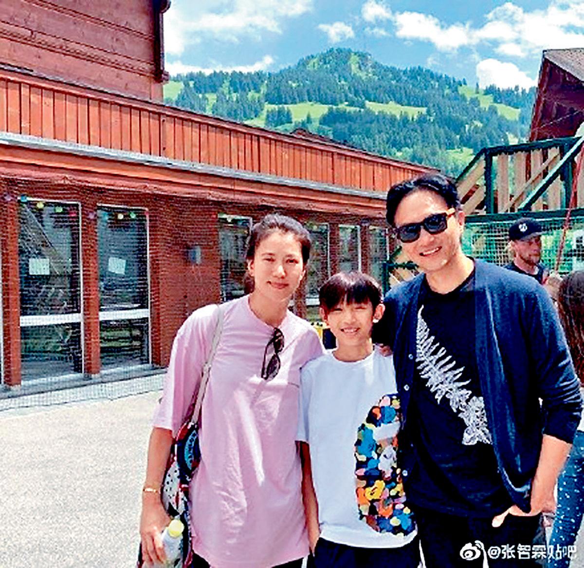 ■張智霖兩公婆,帶兒子歐遊度暑假。