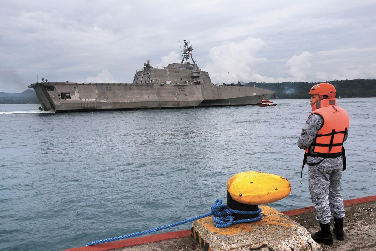 圖為獨立級「蒙哥馬利號」瀕海戰艦。法新社資料圖片