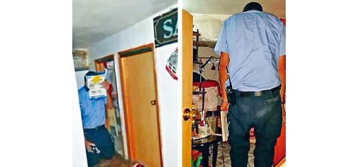 檢查員需要跪著進入單元內。樓宇局圖片