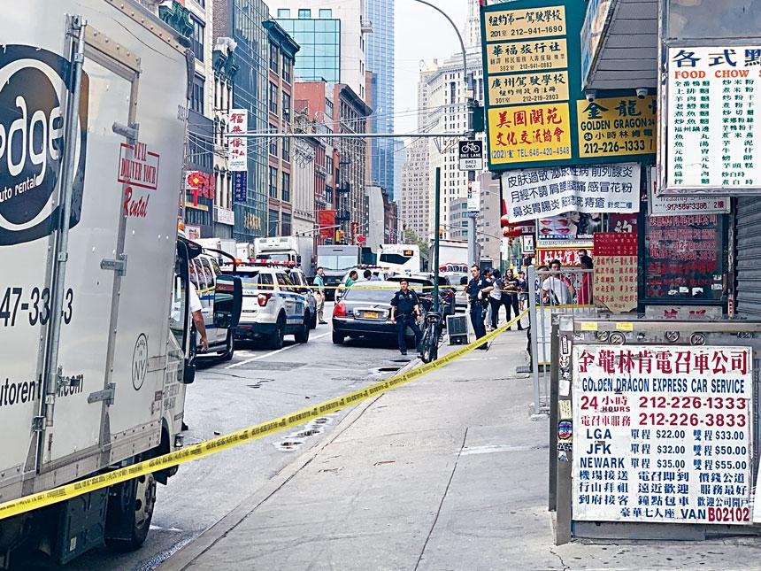 警方在案發後封鎖現場。