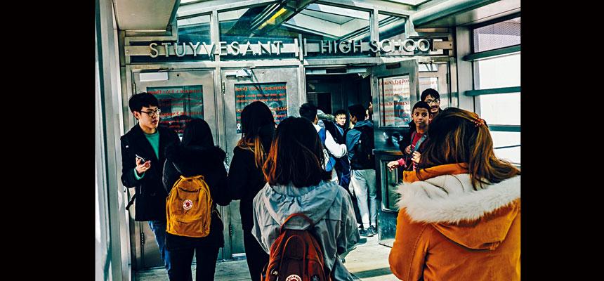 包括史蒂文生高中在內的8間特殊高中以SHSAT決定取錄。Christopher Lee/紐約時報