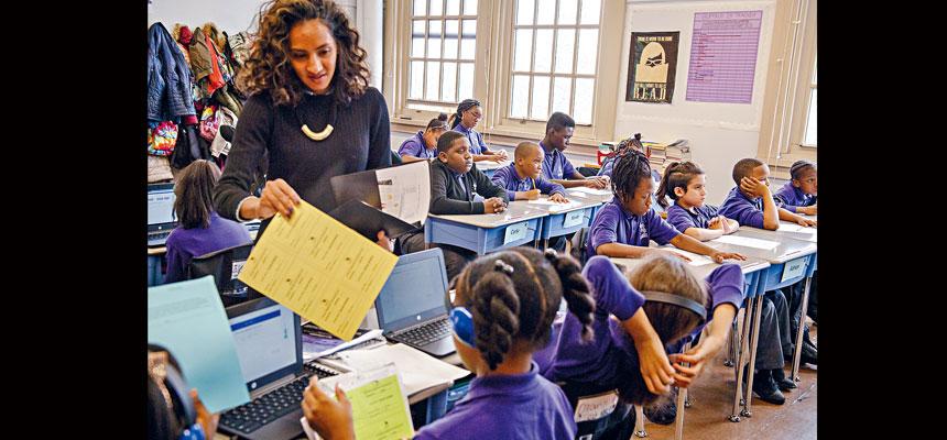 紐約州府及市府一直致力推動老師多元化,但效果一直未見理想。Hilary Swift/紐約時報