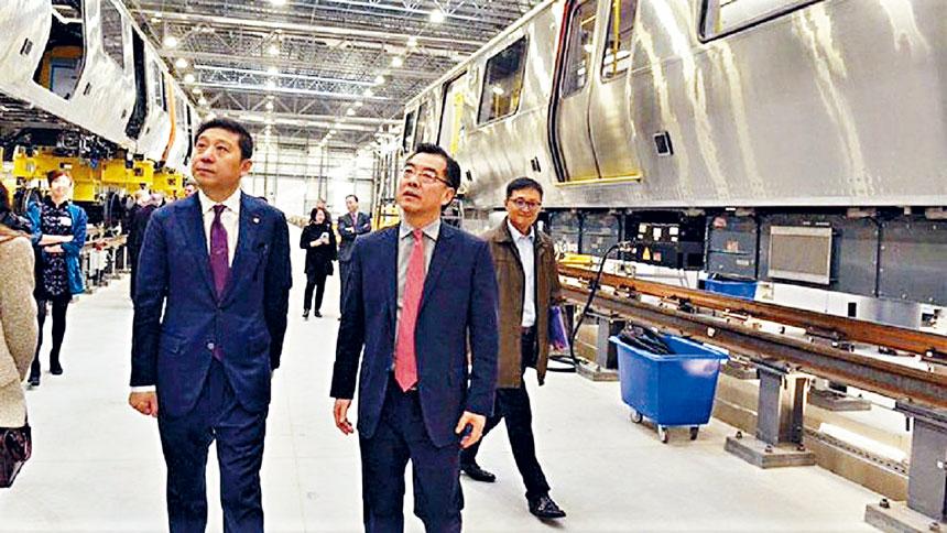 黃屏總領事參觀中車麻省公司春田工廠。