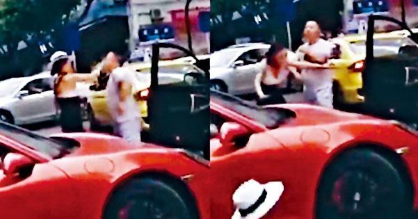 保時捷女車主當日在馬路上和其他司機發生衝突,動手打人。