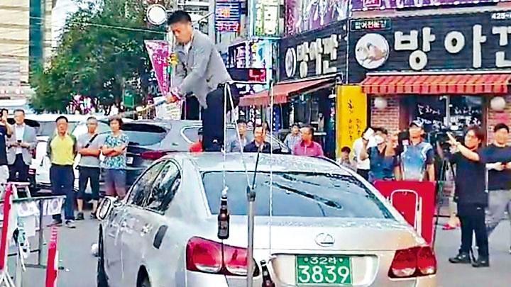 早前有南韓男子砸毀自己的日製汽車。