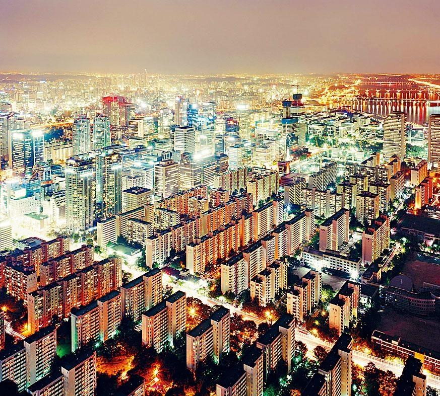 首爾的夜景。