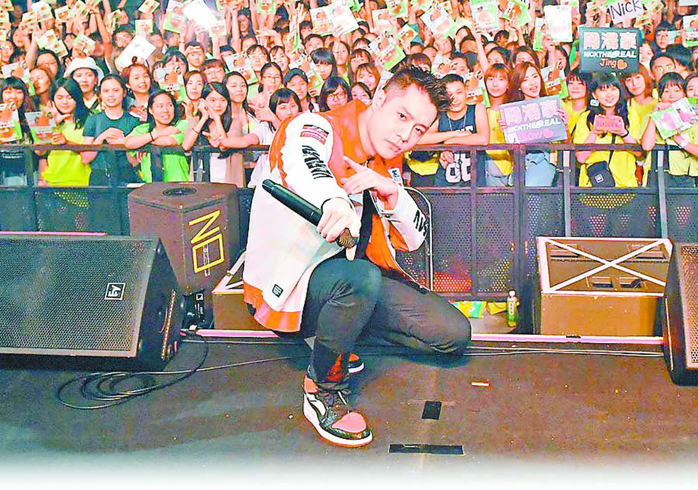 ■周湯豪日前在台北舉辦簽唱會。 網上圖片