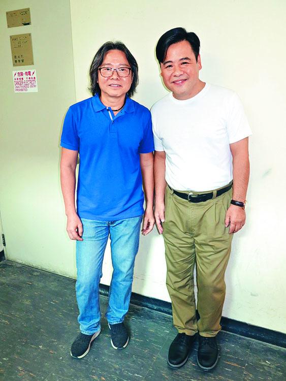 《牛》劇監製黃偉聲(左)與韋家雄都證實劇集將於下月出街。
