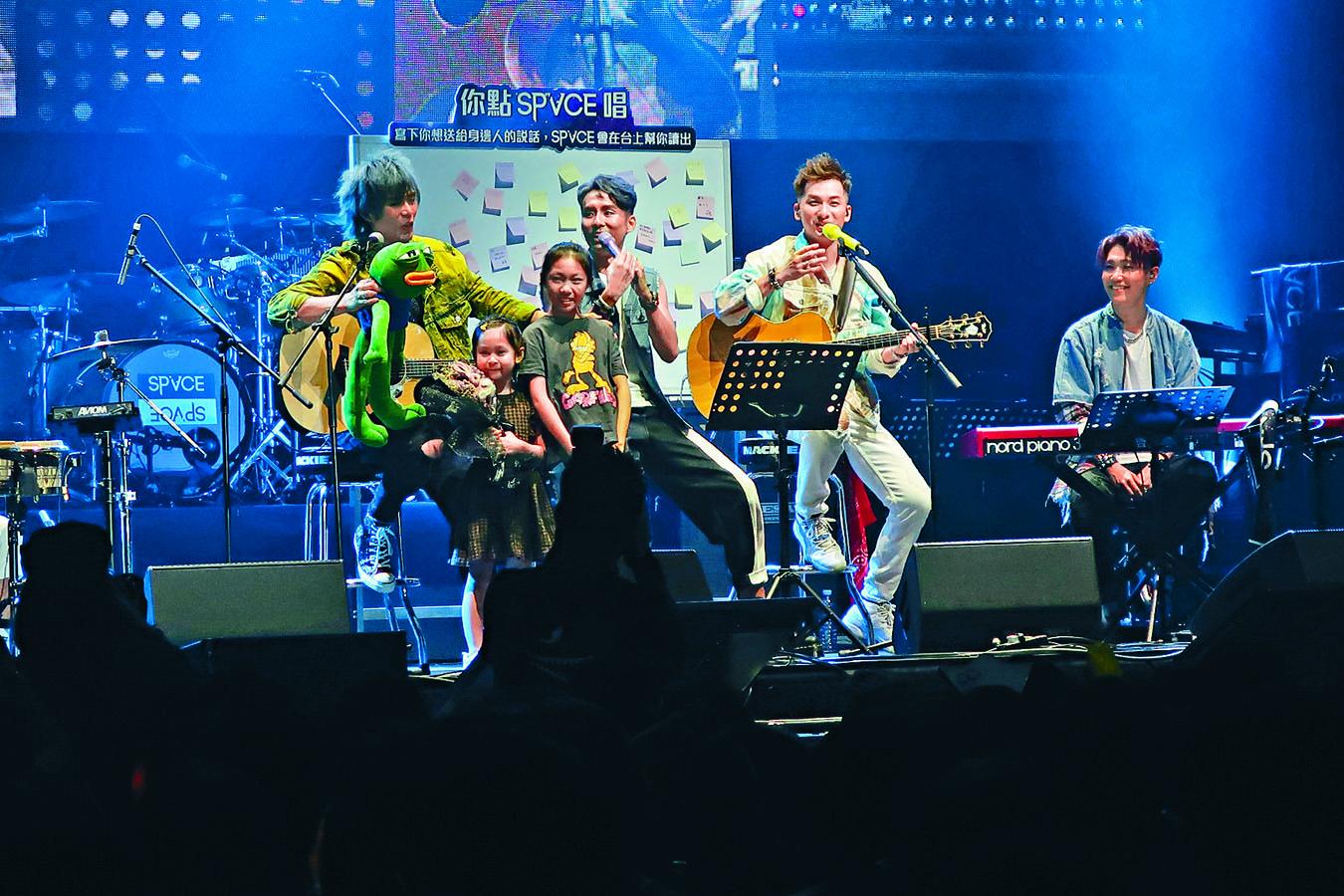 樂隊sp'ACE前晚舉行首個售票演唱會。