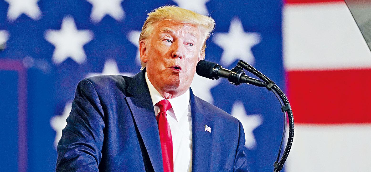 特朗普表示,在明年選舉前會公布個人財務資料,報告資料將「極為完整」。    路透社