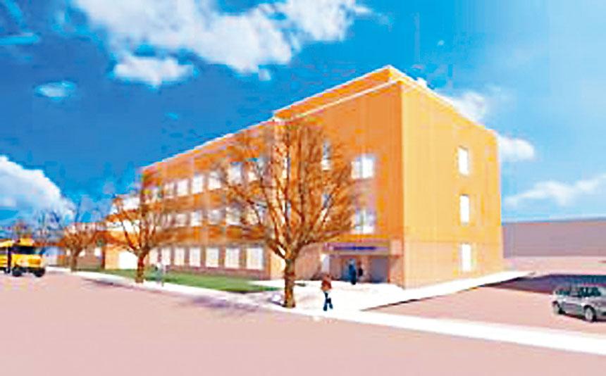 擁有54%亞裔學生的法蘭西斯路易斯高中計劃擴建校舍。學校建設管理局提供