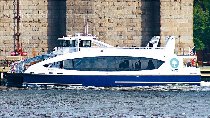從灣脊直達曼哈頓下城碼頭的渡輪服務將會在2021年以前正式開啟。    網路圖